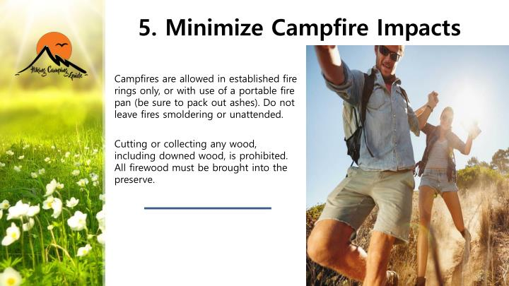 5. Minimize Campfire Impacts