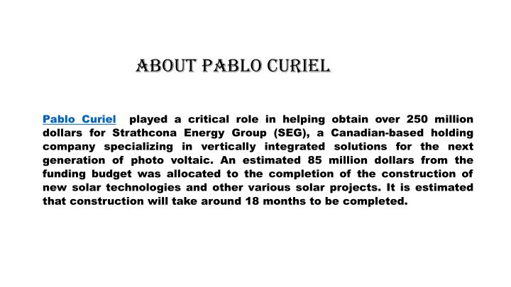 About Pablo Curiel