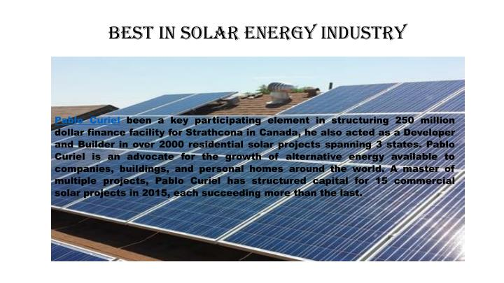 Best in Solar Energy industry