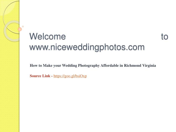 Welcome to www niceweddingphotos com