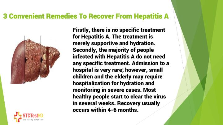 3 convenient re medies t o r ecover f rom hepatitis a