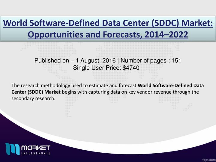 World Software-Defined Data Center (SDDC) Market: Opportunities and Forecasts, 2014–2022