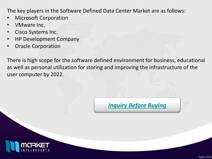 The key players in the Software Defined Data Center Market are as follows: