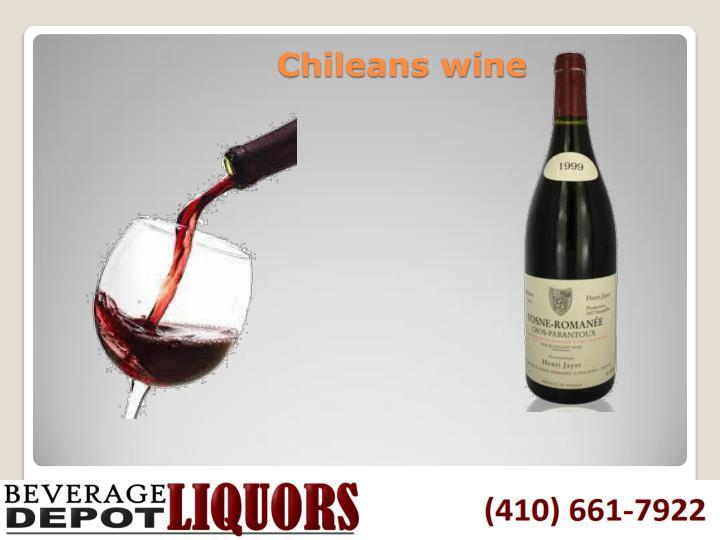 Chileans wine