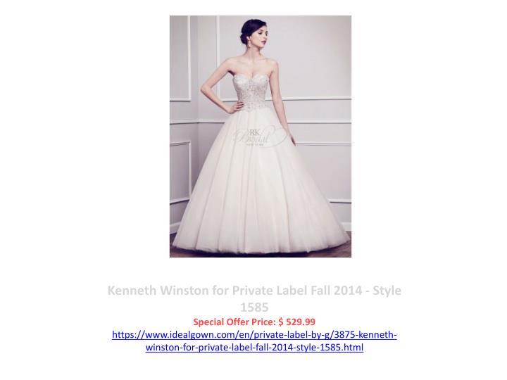 Kenneth Winston for Private Label Fall 2014 - Style 1585