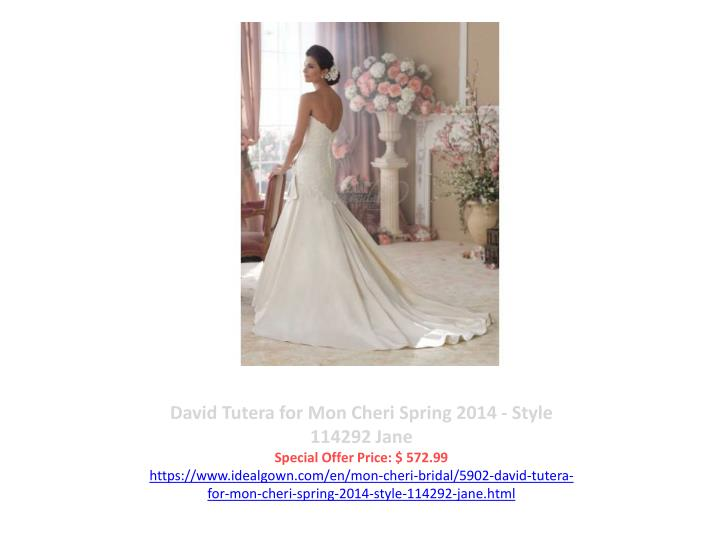 David Tutera for Mon Cheri Spring 2014 - Style 114292 Jane