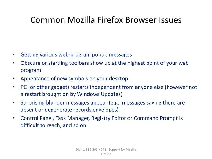Common Mozilla Firefox Browser Issues