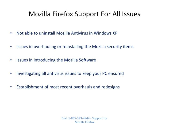 Mozilla Firefox Support For