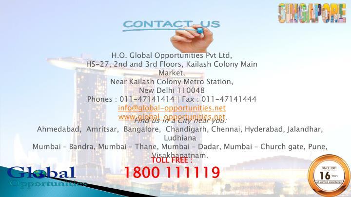 H.O. Global Opportunities Pvt Ltd,