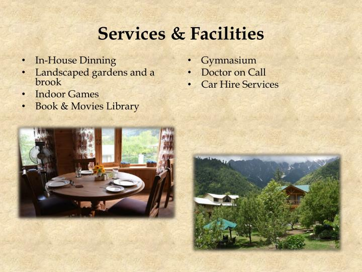 Services & Facilities