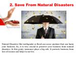 2 save from natural disasters