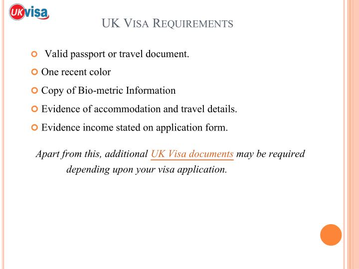 UK Visa Requirements