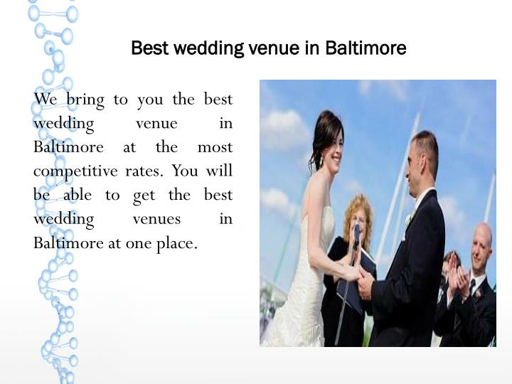 Best wedding venue in Baltimore