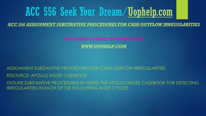 Acc 556 seek your dream uophelp com1