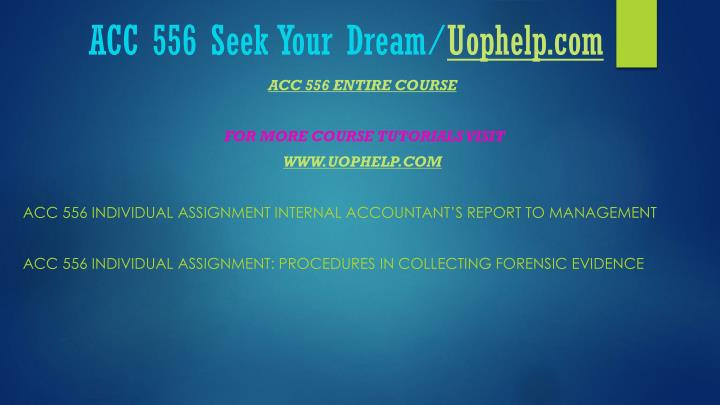 Acc 556 seek your dream uophelp com2
