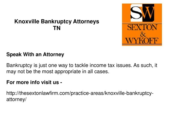 Knoxville Bankruptcy Attorneys TN