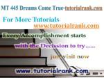 mt 445 dreams come true tutorialrank com7