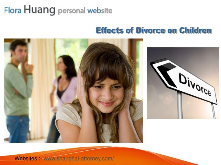 Effects of Divorce on Children