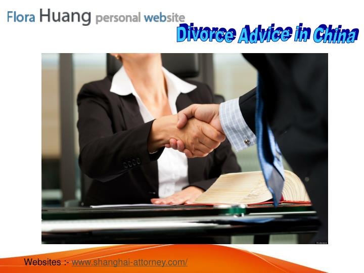 Divorce Advice in China