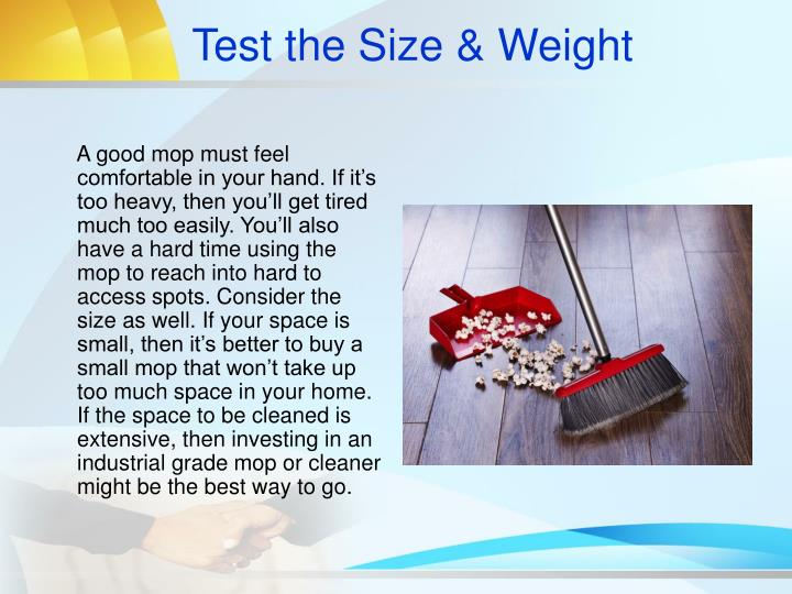 Test the Size & Weight