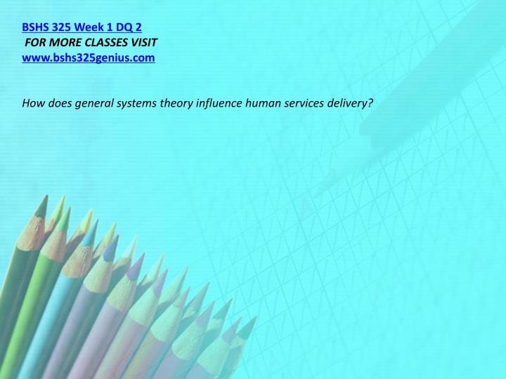 BSHS 325 Week 1 DQ 2