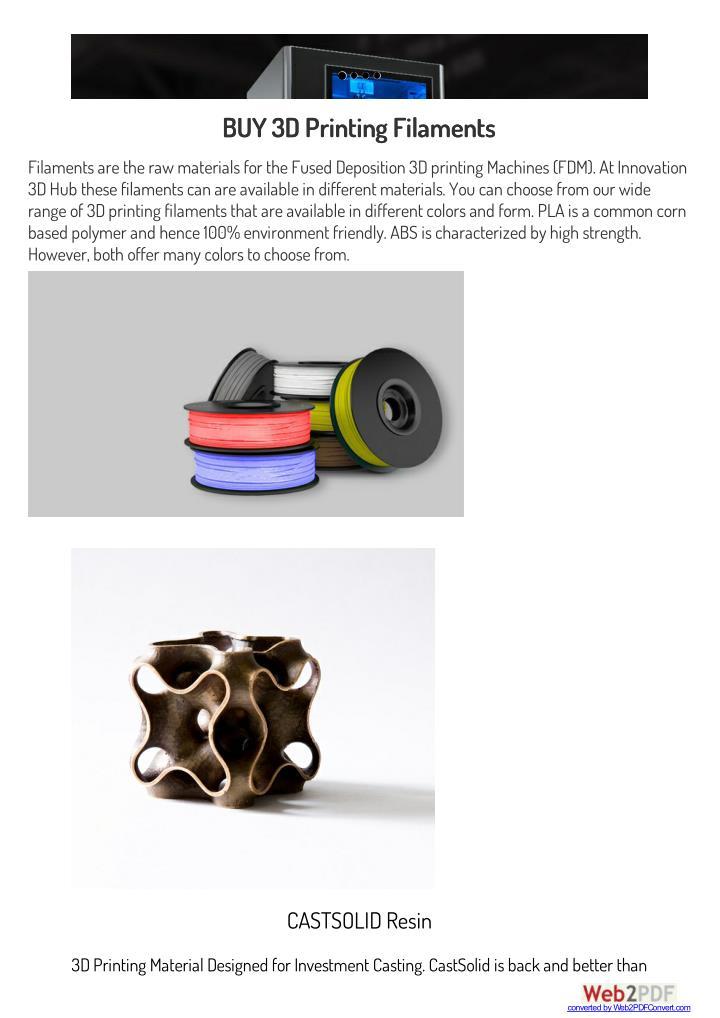 BUY 3D Printing Filaments