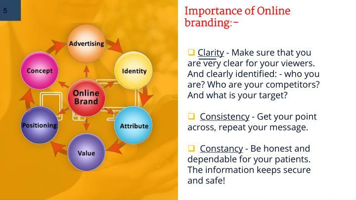 Importance of Online branding:-