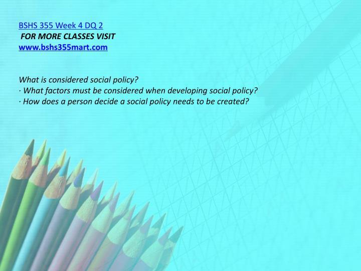 BSHS 355 Week 4 DQ 2