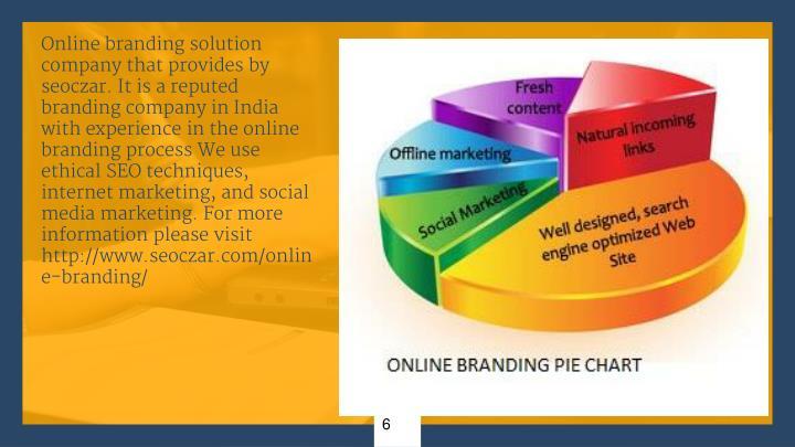 Online branding solution company