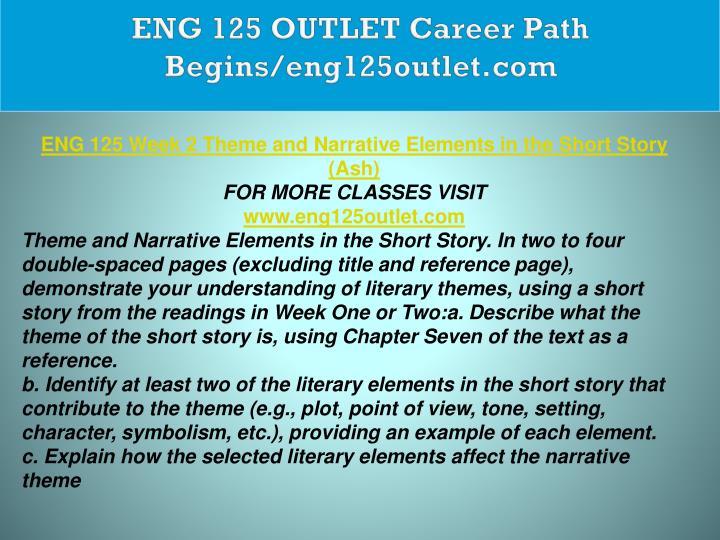 ENG 125 OUTLET Career Path Begins/eng125outlet.com