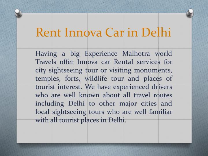 Rent Innova Car in Delhi