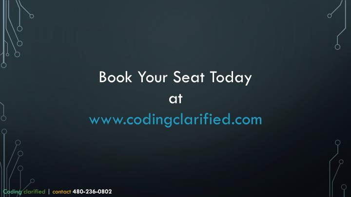 Book Your Seat Today