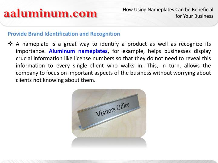 How Using Nameplates Can be Beneficial