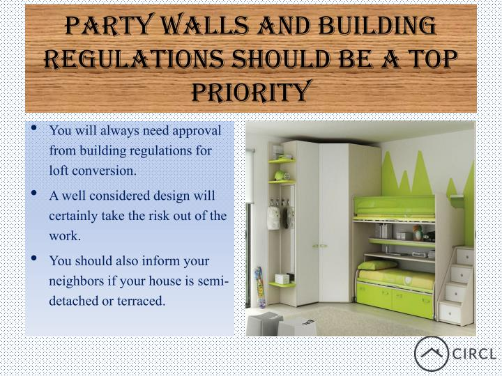 Party walls and building