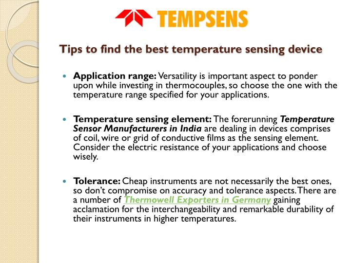 Tips to find the best temperature sensing device