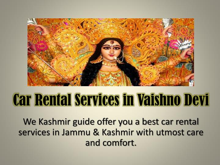 Car Rental Services in