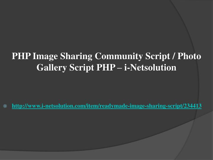 Php image sharing community script photo gallery script php i netsolution