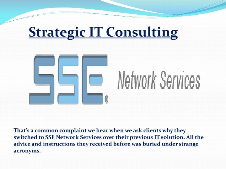 Strategic IT Consulting