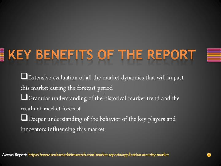Key benefits of the report