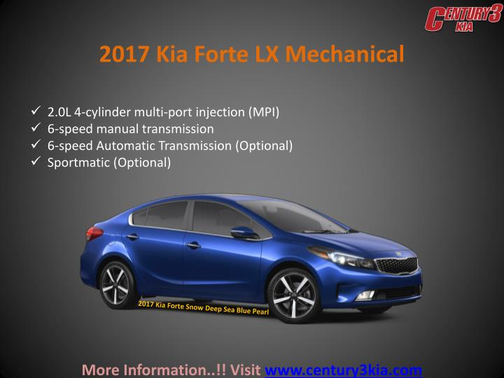 2017 Kia Forte LX Mechanical