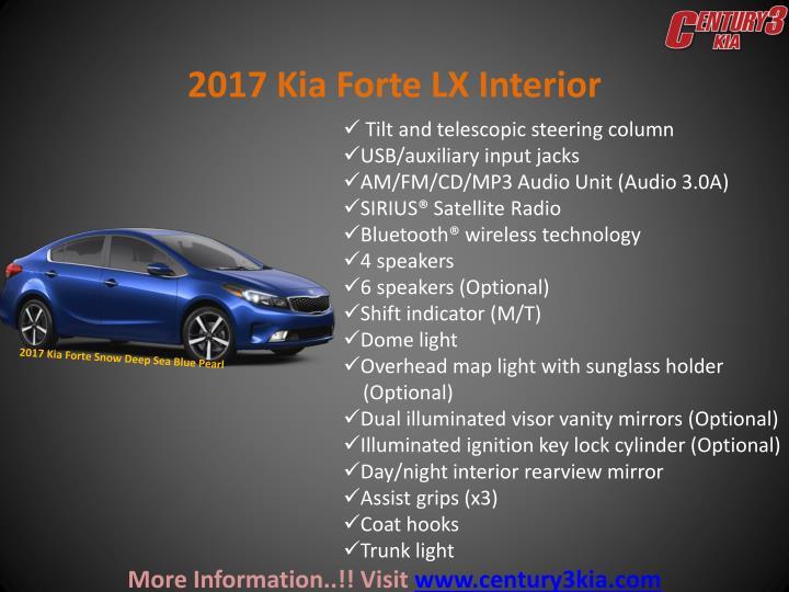 2017 Kia Forte LX Interior