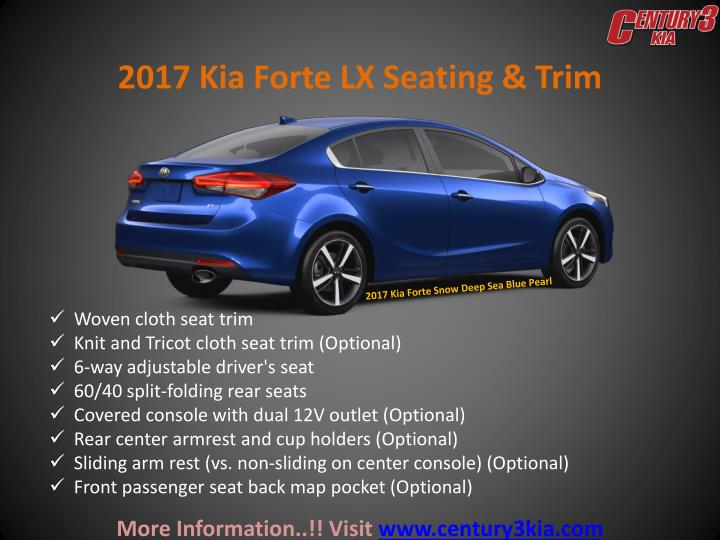 2017 Kia Forte LX Seating & Trim