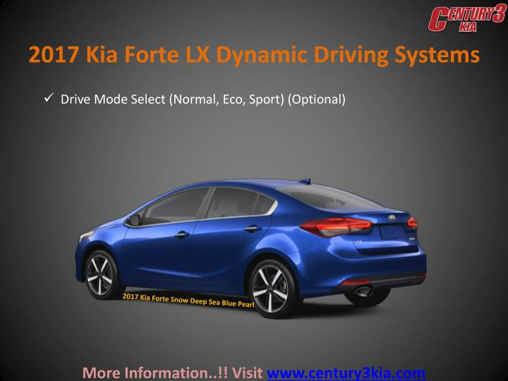 2017 Kia Forte LX Dynamic Driving Systems