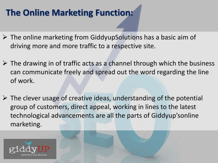 The Online Marketing Function: