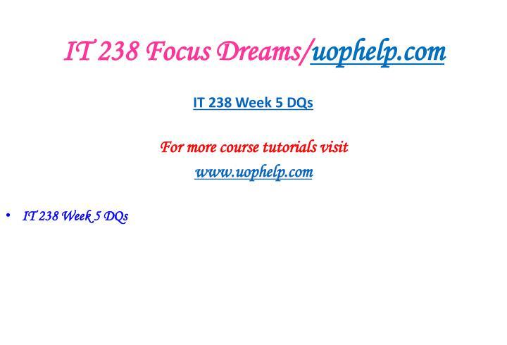 IT 238 Focus Dreams/