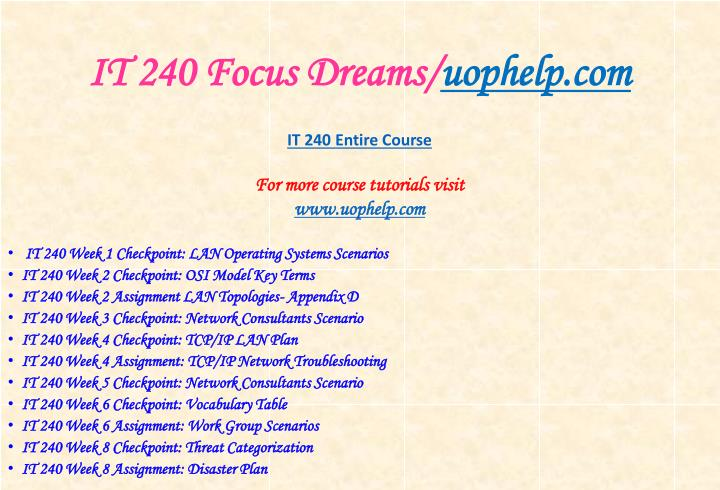 It 240 focus dreams uophelp com1