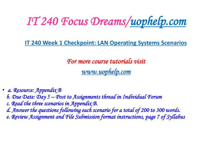 It 240 focus dreams uophelp com2