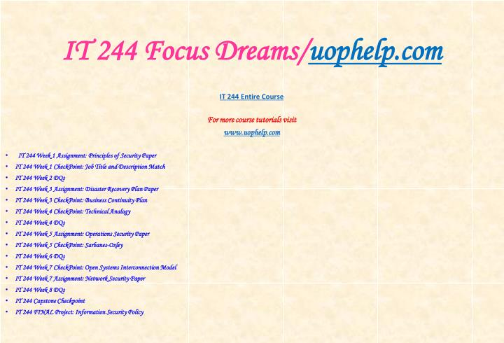 It 244 focus dreams uophelp com1