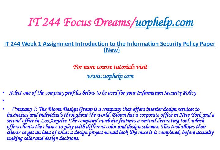 It 244 focus dreams uophelp com2