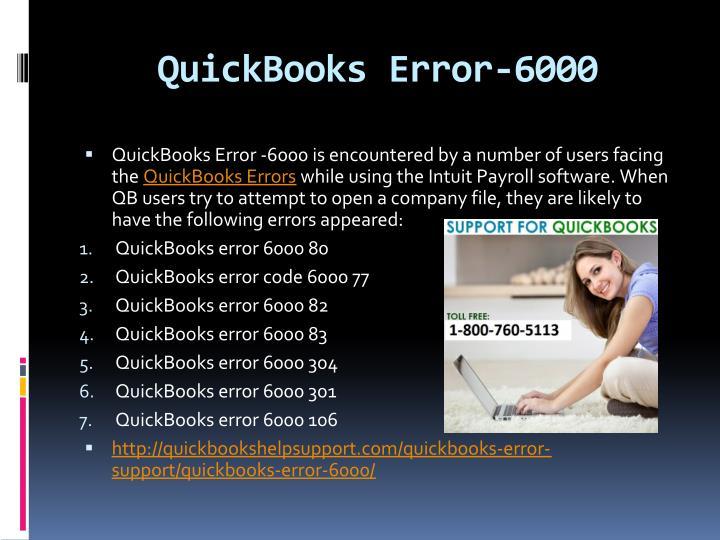 QuickBooks Error-6000